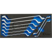 Kilpinių raktų (2140/10) 6-22mm k-tas su įdėklu vežimėliui 8 dalių