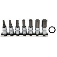 Įpresuotų 1/4 HEX (6-kamp.) antgalių rinkinys (4-12mm)