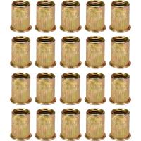Srieginių plieninių kniedžių rinkinys M6, 20vnt