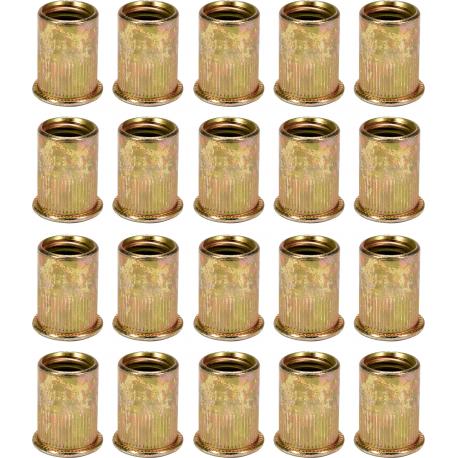 Srieginių plieninių kniedžių rinkinys M12, 20vnt