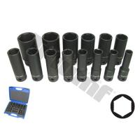 Smūginių 1/2 ilgų galvučių rinkinys Cr-Mo (10-32 mm)