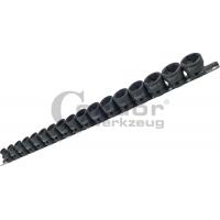 Smūginių 1/2 galvučių rinkinys Cr-Mo EXTRA trumpos (8-24 mm)