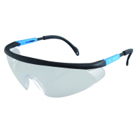 Safety glasses, high quality transparent PC glass, adjustable temples