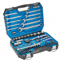 Tool set 85 pcs, CrV steel