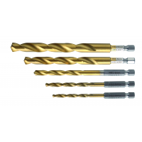 Metal drill bit set: 4.5.6.8.10 mm, made of HSS steel