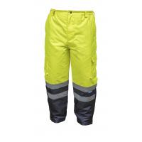 Atšvaitinės darbinės kelnės, geltonos dydis XL