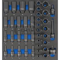 Smūginių 1/2 galvų komplektas (8-32 mm) Cr-Mo