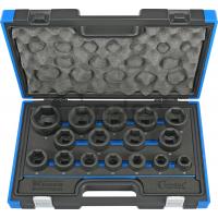 Smūginių 3/4 galvų komplektas, trumpos (19-50 mm)