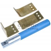Suvirinimo įrankis su vario plokštelėmis