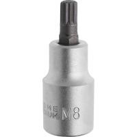 Įpresuotas SPLINE M8 antgalis 1/2 / 55 mm