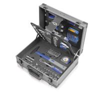 Įrankių lagaminas 1/4+1/2 įrankiais, 89dalių