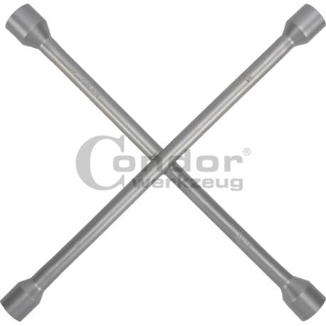 Raktas-kryžius ratų varžtams 17mm/19mm/21mm