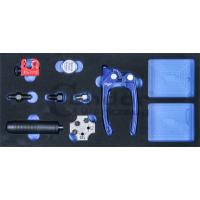 Stabdžių vamzdelių valcavimo/lankstymo komplektas su įdėklu vežimėliui