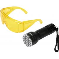 UV žibintuvės + akiniai / kondicionieriui tikrinti