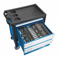 Įrankių vežimėlis 6 stalčių su 223 įrankiais + DOVANA