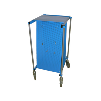 empty Tool cart - perforated panels, hooks, transport