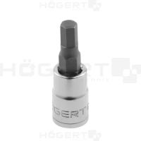 """Antgalis HEX-5mm šešiakampis įpresuotas 1/4"""" galvutėje"""