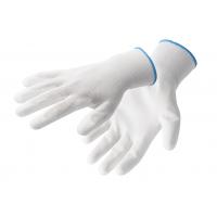 Darbo pirštinės 7 dydžio baltos polyestr/polyurethane