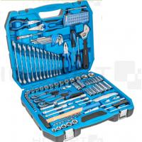Universalus įrankių komplektas 1/4+3/8+1/2 CrV Cr-Mo su priedais / 131 dalies HOEGERT HT1R439