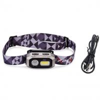 Prožektorius ant galvos įkraunamas / COB-LED
