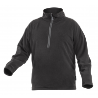 Džemperis flizinis su užtrauktuku 3/4, juodas, XL