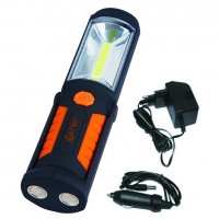 Darbinė lempa COB-LED 3W + 5LED / įkraunama