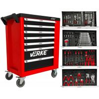 Įrankių vežimėlis 7+1 stalčių su 138 įrankiais