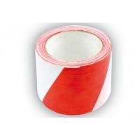 Įspėjamoji juosta 75mm x 100m / balta-raudona