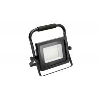 Prožektorius LED 50W, nešiojamas, juodas su judėsio davikliu