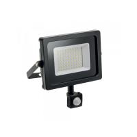 Prožektorius LED 10W, nešiojamas, juodas su judėsio davikliu