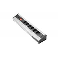 Prailgintuvas elektrai su jungikliu IP20 6-ių lizdų / + 4xUSB  2xUSB 5V 2.1A