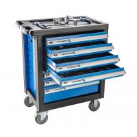 Įrankių vežimėlis 7 stalčių su 205 įrankiais