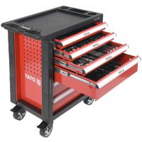 Įrankių vežimėlis 6 stalčių su 177 įrankiais