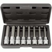 """socket set 1/2"""" hex bit 8items in case (5-17mm L100mm) AvtoDelo (39400)"""