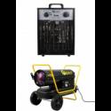 Patalpų šildytuvai (elektriniai, dyzeliniai)