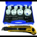 Patalpų remonto įrankiai (maišai, tentai, peiliukai, markeriai, izoliacinės juostos)