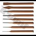 Išmušimo iškalimo įrankiai (kaltai, išmušikliai, žymekliai, centravimo įrankiai)