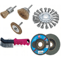 Wire Brushes, Flap discs, Steel brushes with handle