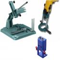 Angle grinder supports, U-shank jigsaw blades