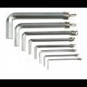 L - formos TORX, HEX, SPLINE raktai, jų komplektai