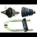 Įrankiai granatoms, pusašių gumoms, sąvaržos