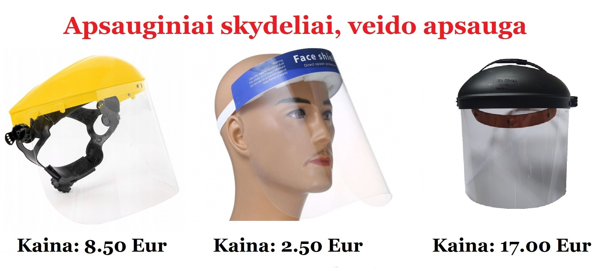 Veido apsauga, apsauginiai veido skydeliai
