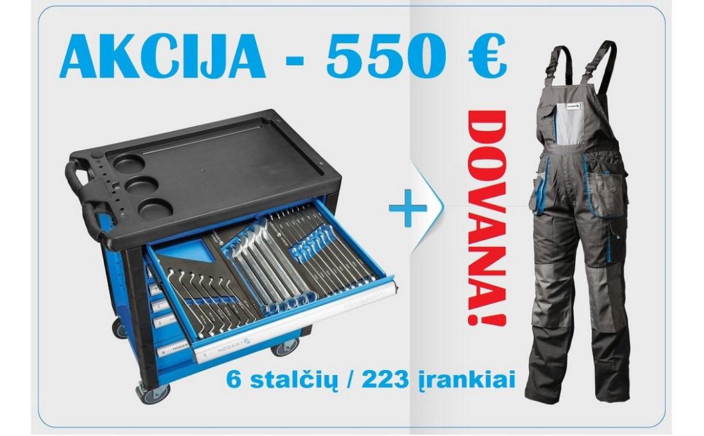 HOGERT įrankių vežimėlis su 223 įrankiais - AKCIJA